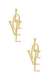 Серьги love - Natalie B Jewelry