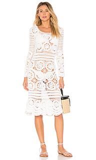 Миди платье с вышивкой крошё lincoln - MAJORELLE