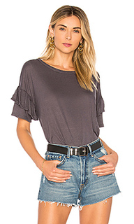 Рубашка с присборенными рукавами ruffle sleeve - the hour