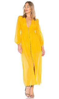 Макси платье со сборками voile - NICHOLAS