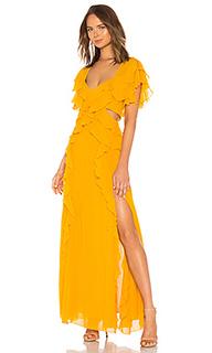 Вечернее платье с открытой спиной georgette - NICHOLAS