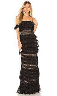 Вечернее платье с открытыми плечами elora - BCBGMAXAZRIA