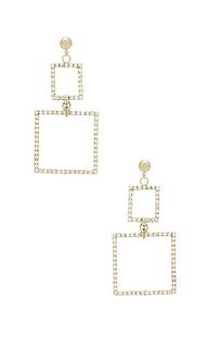Серьги double square - LARUICCI