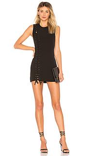 Облегающее платье на шнуровке с юбкой-солнцеклеш monica - Chrissy Teigen