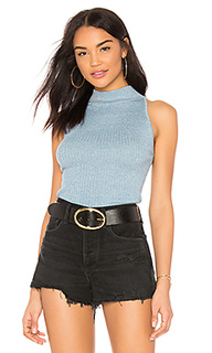 Блузка в рубчик с ложным воротником - Autumn Cashmere