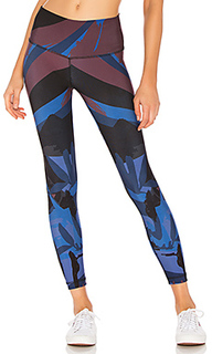 Deep blue lagoon reversible 7/8 legging - Maaji
