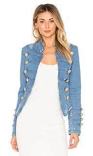 Облегающая джинсовая куртка милитари - Free People