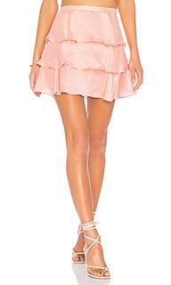 Мини-юбка с рюшами flora - Tularosa