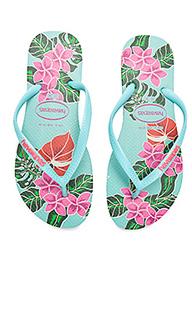 Сандалии slim floral - Havaianas