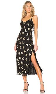 Платье ruffle slip - LoveShackFancy