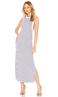 Платье striped crew neck tank dress - Stateside