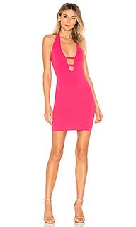 Облегающее мини-платье с глубоким v-образным вырезом victoria - by the way.