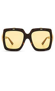 Солнцезащитные очки oversize square-frame acetate - Gucci