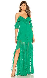 Макси платье georgette - NICHOLAS