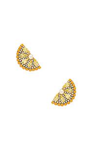 Серьги lemon slice - Anton Heunis