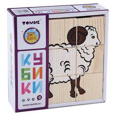 """Кубики """"Домашние животные"""", 9 штук, Томик"""