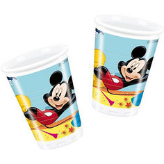 """Стаканы пластиковые """"Микки Маус на карнавале"""" 180 мл, 10 шт. Procos"""
