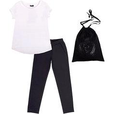 Комплект: футболка и брюки для девочки Gulliver