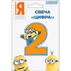 Свеча-цифра №2, Миньоны Росмэн