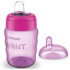 Чашка-поильник с носиком Comfort, 260 мл, Avent, сиреневый/розовый