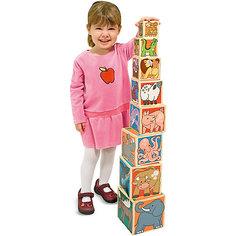 """Деревянные кубики """"Животные"""", Melissa & Doug"""