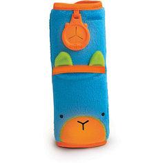 Голубая накладка-чехол для ремня безопасности в авто Trunki