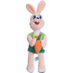 Мягкая игрушка Заяц с морковкой, МУЛЬТИ-ПУЛЬТИ