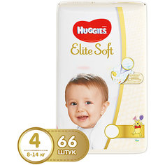 Подгузники Huggies Elite Soft 4, 8-14 кг, 66 шт.