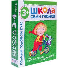 """Набор развивающих книг """"Полный годовой курс: 3-4 года"""" Мозаика Синтез"""