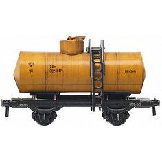"""Сборная модель """"Двухосная цистерна 25 м3 (желтая)"""" Умная Бумага"""