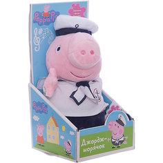 """Мягкая игрушка """"Джордж моряк озвученная"""", 25 см, Peppa Pig Росмэн"""