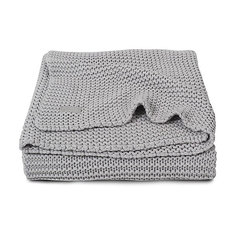 Вязаный плед 100х150 см, Jollein, Light grey