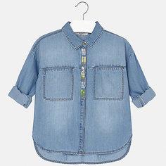 Блузка джинсовая для девочки Mayoral