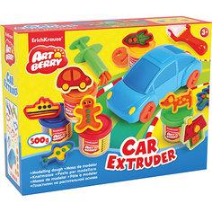 Набор для лепки: Пластилин на растительной основе Car Extruder 5 цвета по 100г Erich Krause