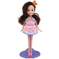 Набор для лепки с куклой Fashion Dough, Шатенка в розовом сарафане Toy Target