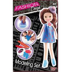 Набор для лепки с куклой Fashion Dough, Шатенка в голубом сарафане Toy Target