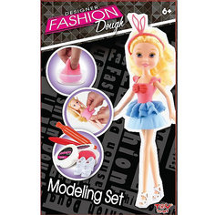 Набор для лепки с куклой Fashion Dough, Блондинка в голубой юбке Toy Target