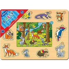 "Игра из дерева ""Весёлое лото. В лесу"", Step Puzzle Степ Пазл"