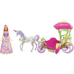 Игровой набор Barbie Конфетная карета и кукла Mattel
