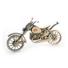 """Деревянный  3D конструктор подвижный """"Мотоцикл 33"""", Lemmo"""