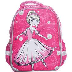 Ранец Super bag Принцесса-балерина, ортопедическая спинка Limpopo