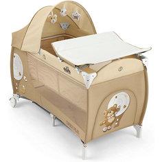 Манеж-кровать Daily Plus Медвежонок, CAM, кремовый