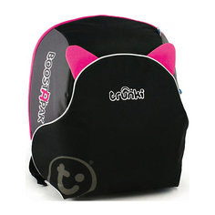 Автокресло-рюкзак черно-розовое Trunki