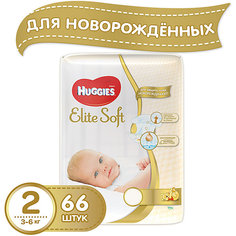 Подгузники Huggies Elite Soft 2, 3-6 кг, 66 шт.