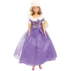 Кукла Штеффи в блестящем зимнем наряде, фиолетовая, 29 см, Simba