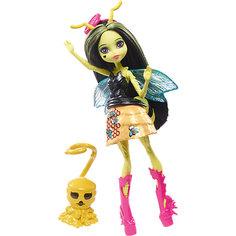 Мини-кукла Monster High «Цветочные Монстры» Пчела Беатрис с питомцем, 13 см Mattel