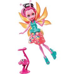 Мини-кукла Monster High «Цветочные Монстрики» Светлячок Люмина с питомцем, 13 см Mattel