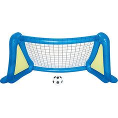 Футбольный набор: надувные ворота с брызгалкой + мяч, Bestway