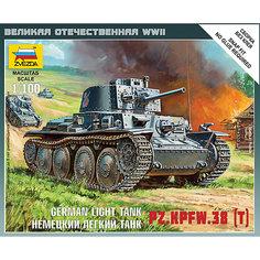 Сборная модель  Немецкий лёгкий танк Т-38 Звезда