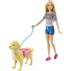 """Игровой набор """"Прогулка с питомцем"""", Barbie Mattel"""